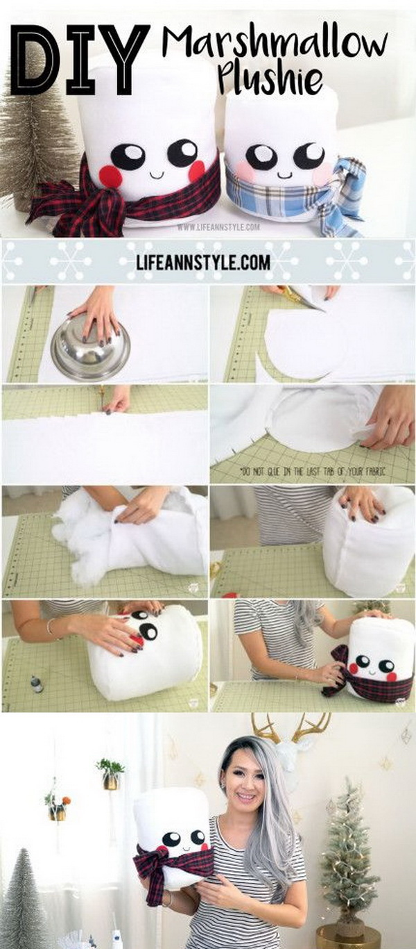 Cute Marshmallow Plushie DIY. These marshmallow plushies are so easy that everyone can enjoy and craft.