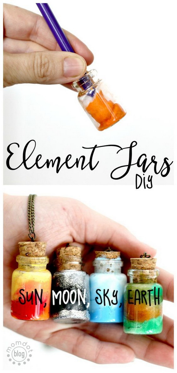 DIY Element Jar Necklace. Create an element jar necklace for the nerdy friends around you.