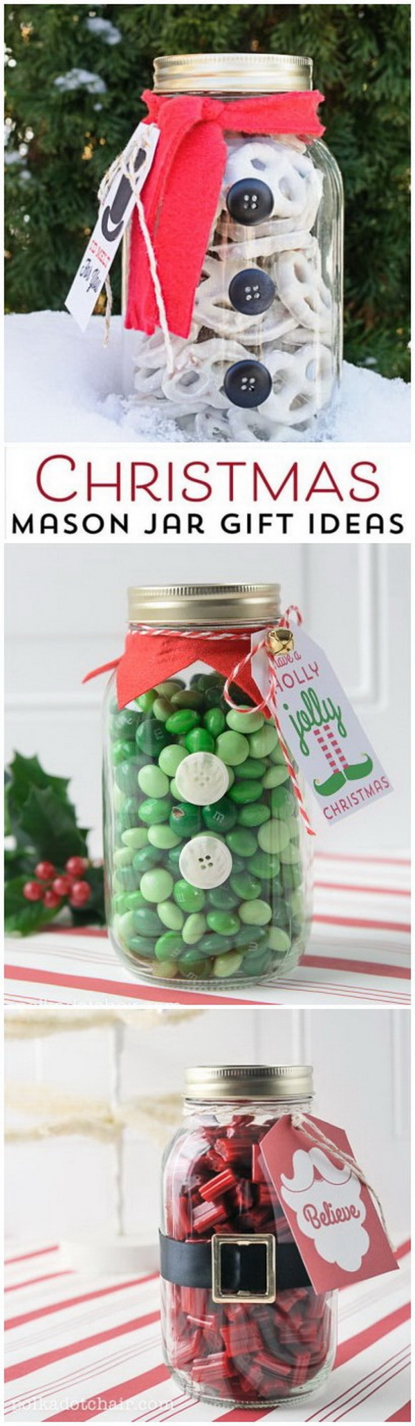 Christmas Mason Jar Gift Idea. These mason jar gifts are so simple to make and can be easily customized for your holiday season!