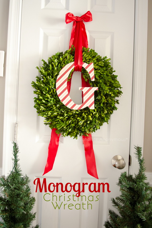 Monogram Christmas Wreath.