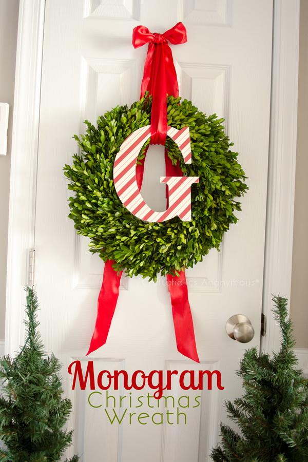 Monogram Christmas Wreath.