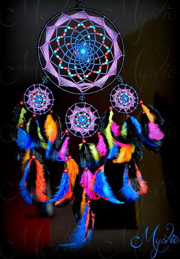 5c0ed69168d02 This is a colorful and attractive dream catcher made with different colored  feathers, strings and