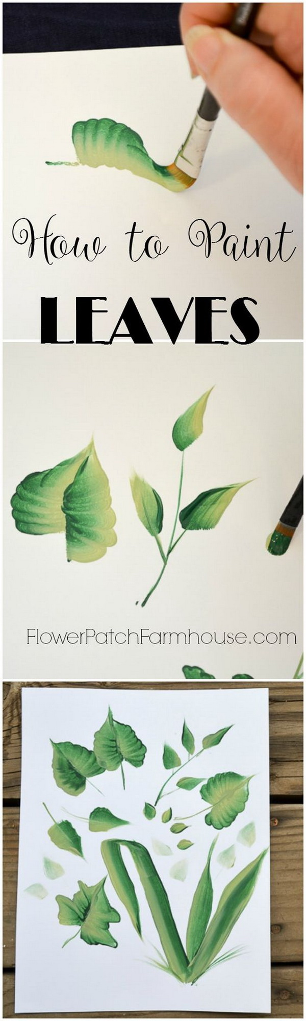 Simple Painted Leaves Wall Art. Leaves are an important part of painting art. If you are good at painting, try this project out and make a bright, modern wall art.