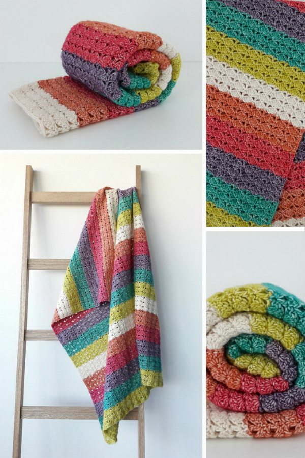 35 free crochet blanket patterns tutorials for creative juice sea shell blanket dt1010fo