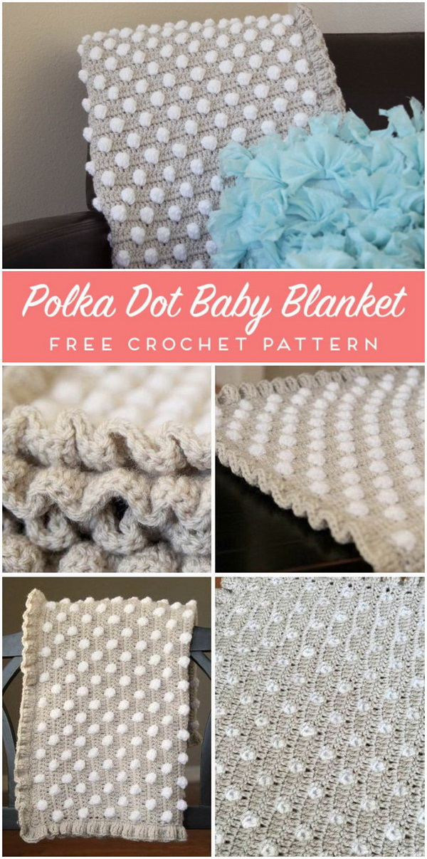 Crochet Baby Blanket Pattern: The Polka Dot Puff.