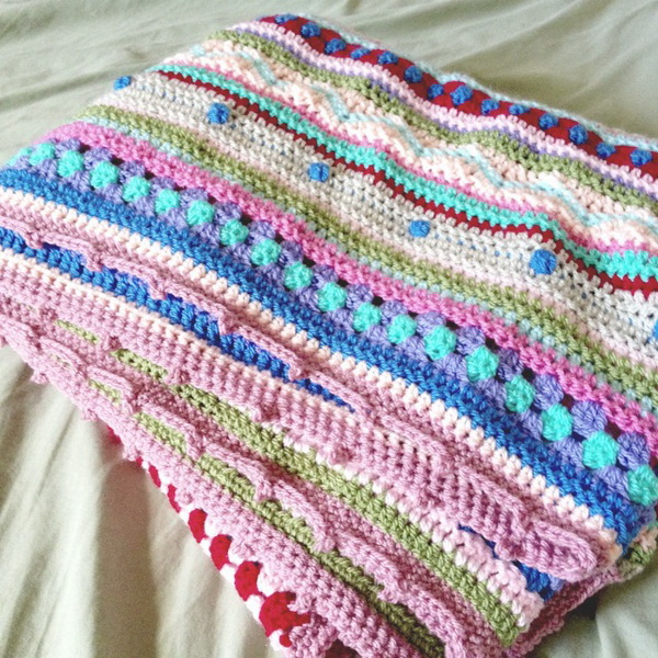 As-We-Go Stripey Blanket.