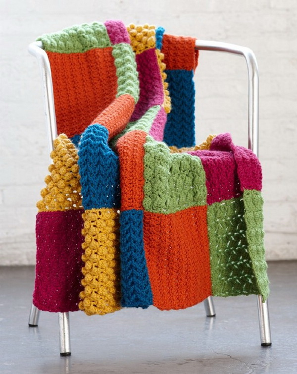 Crochet Sampler Throw Pattern
