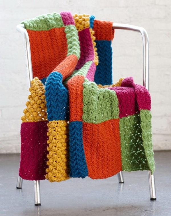 Crochet Sampler Throw Pattern