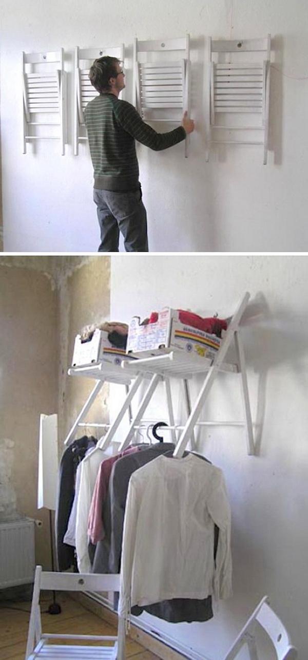 Hanging Chair Closet Organizer.
