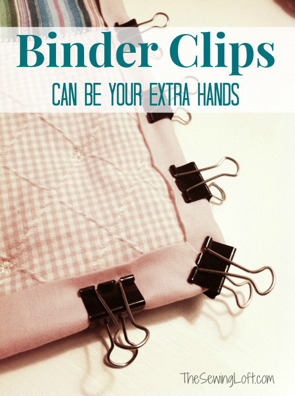 Genius Sewing Tips & Tricks: Use Binder Clips for Holding Binding when Sewing.