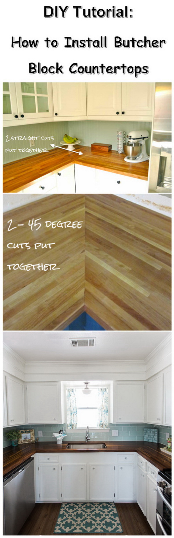 DIY Butcher Block Countertops.