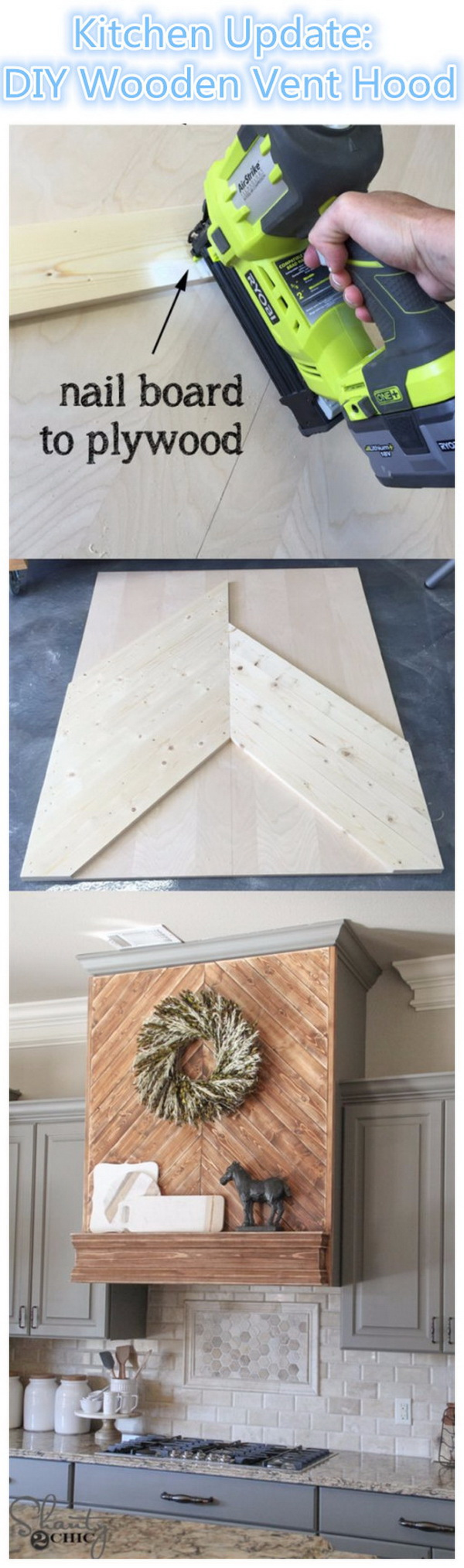 DIY Wooden Vent Hood.