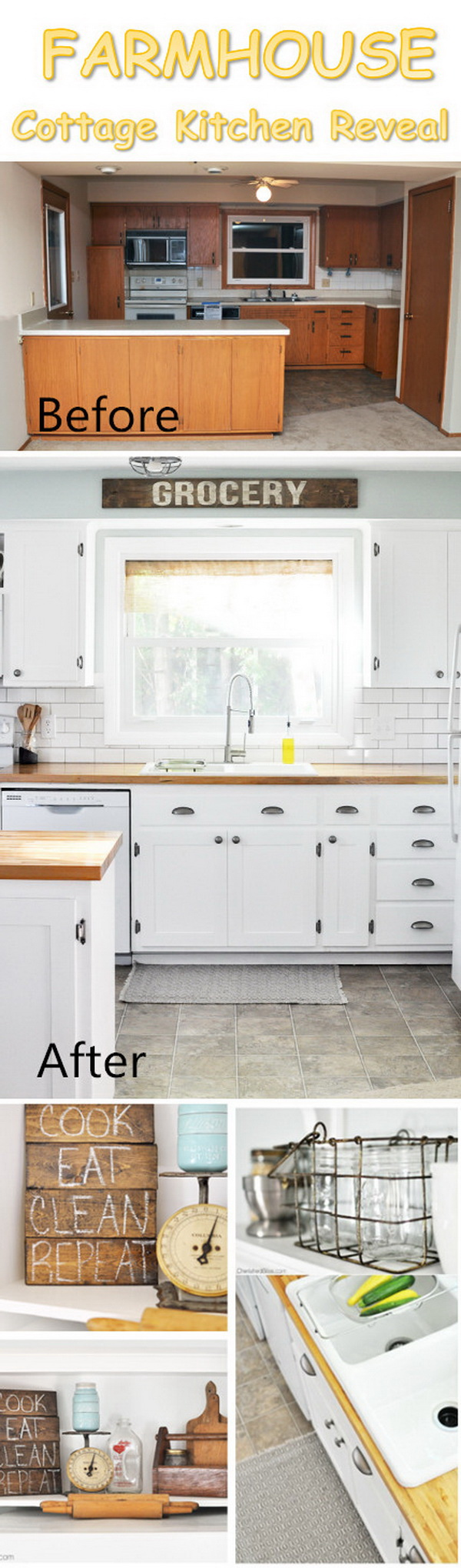 Farmhouse Cottage Kitchen Reveal.