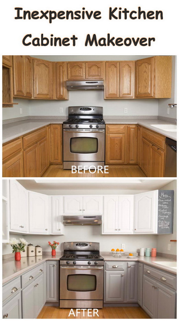 Inexpensive Kitchen Cabinet Makeover.