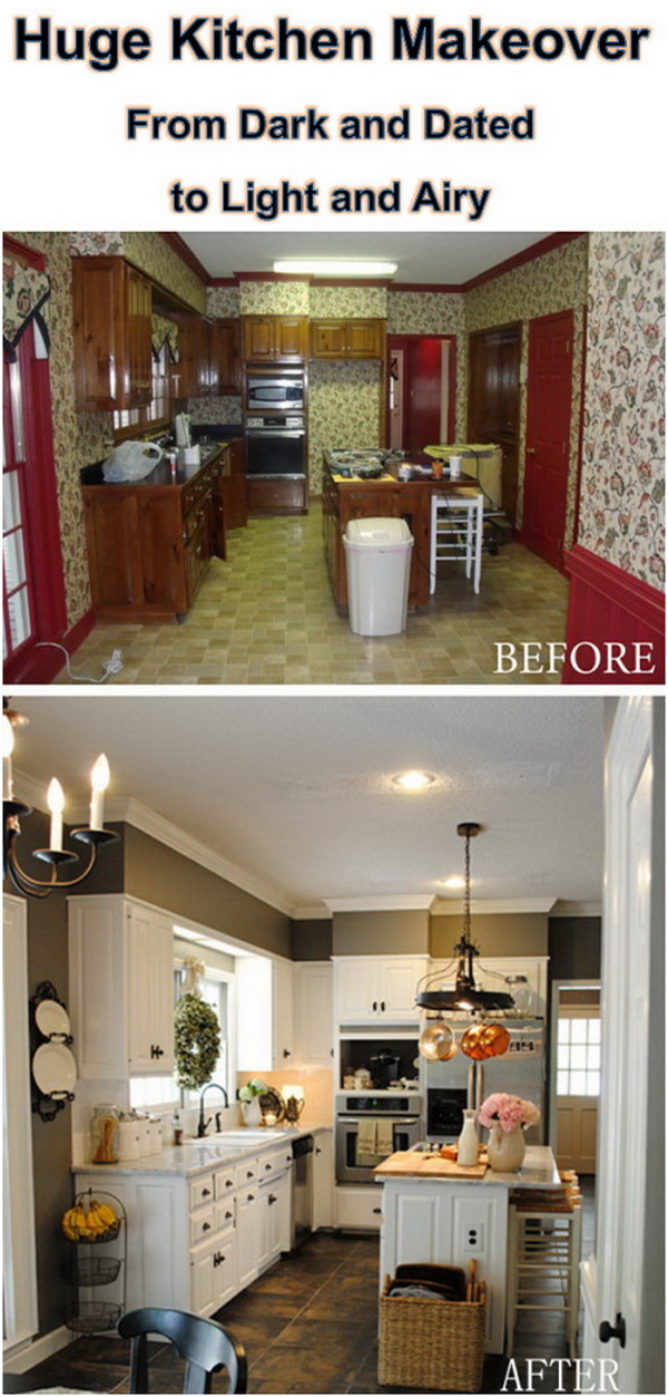 Huge Kitchen Makeover: From Dark and Dated to Light and Airy.