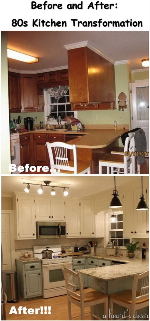 Before and After: 80s Kitchen Transformation.