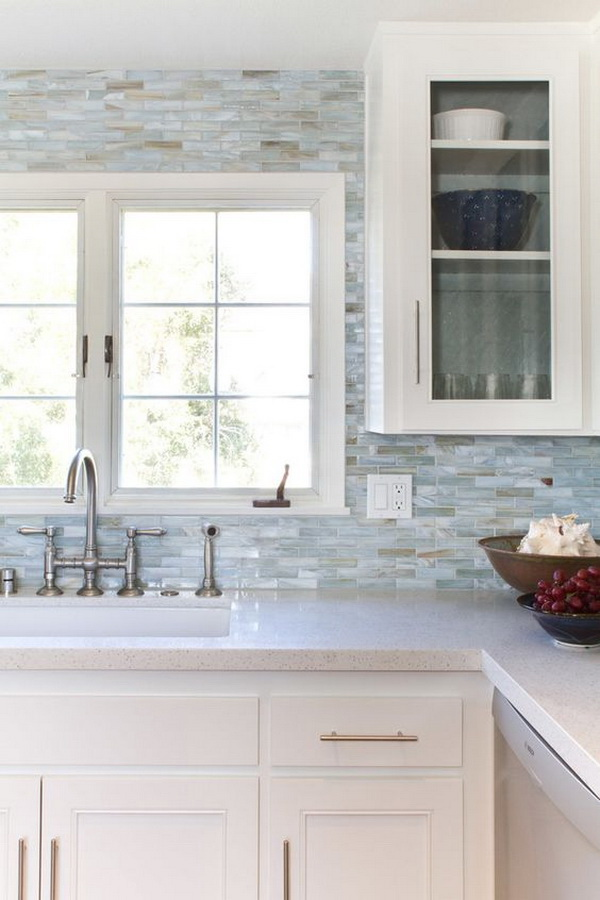 Mother Of Pearl Tile Backsplash.