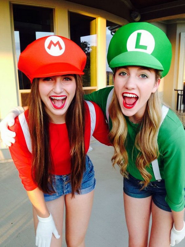 Mario and Luigi Best friend costumes!