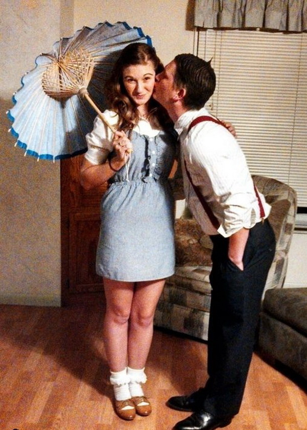 Darla and Alfalfa Couple Costume - Halloween Costume. Stylish Couple Costumes for Halloween.