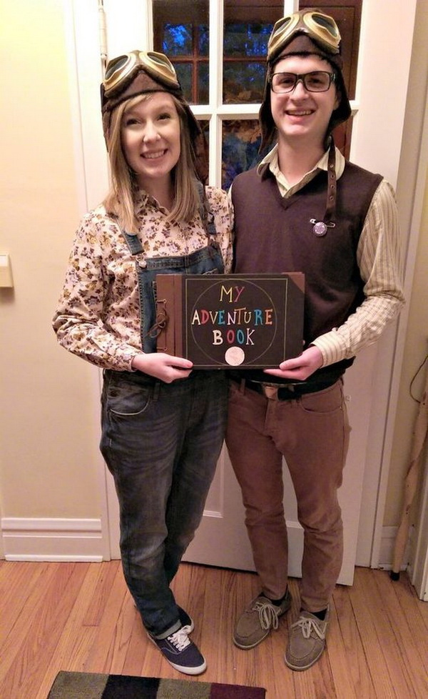 Carl and Ellie from Up. Stylish Couple Costumes for Halloween.