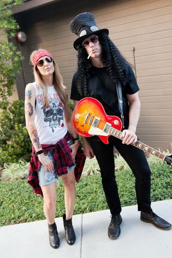 Axel Rose Outfits Halloween. Stylish Couple Costumes for Halloween.