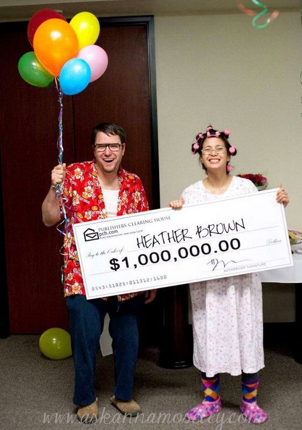 Publishers Clearing House Costumes. Stylish Couple Costumes for Halloween.