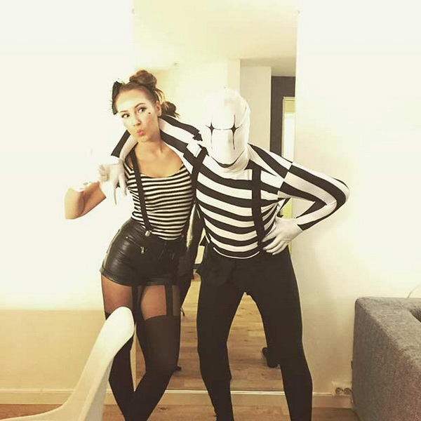 Mime Couple Costume. Stylish Couple Costumes for Halloween.