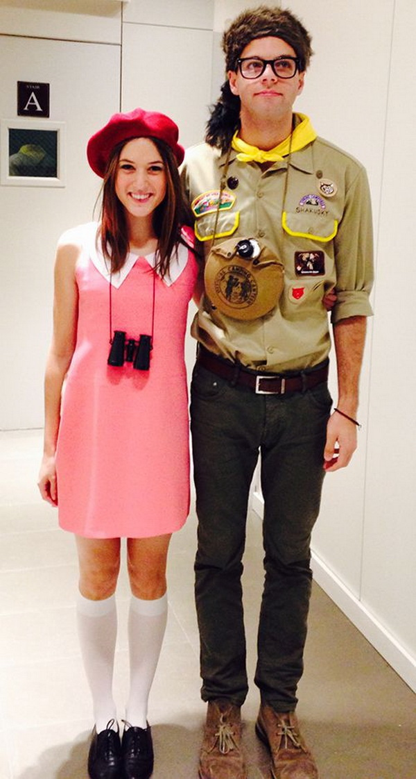 A Moonrise Kingdom-inspired couples Halloween costume. Stylish Couple Costumes for Halloween.