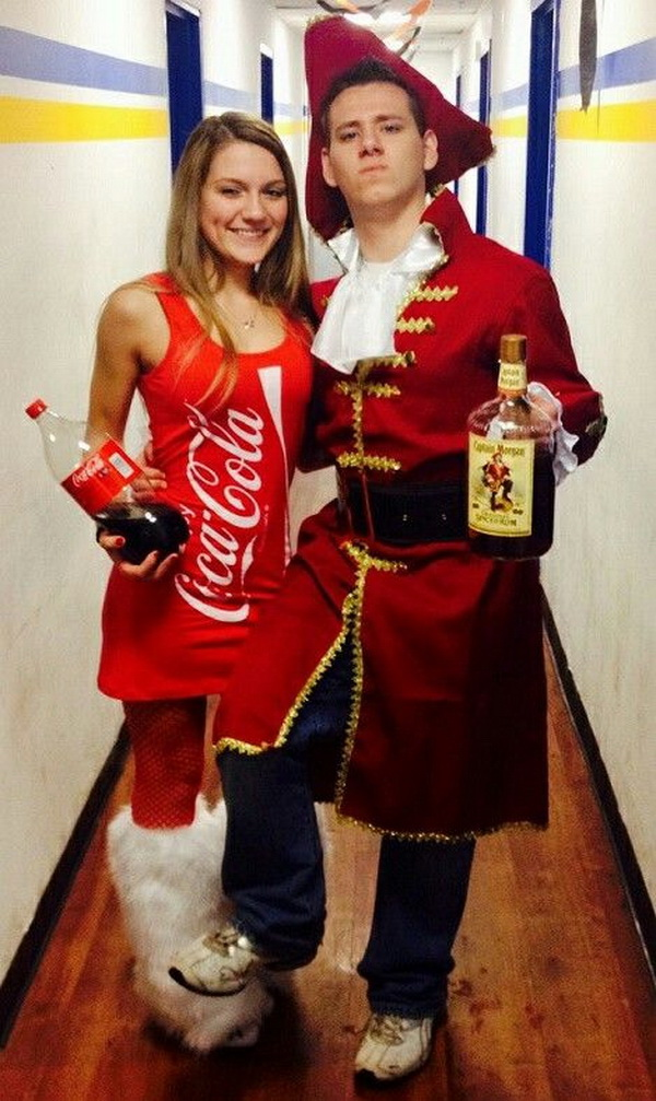 Wiskhy y coke. Stylish Couple Costumes for Halloween.