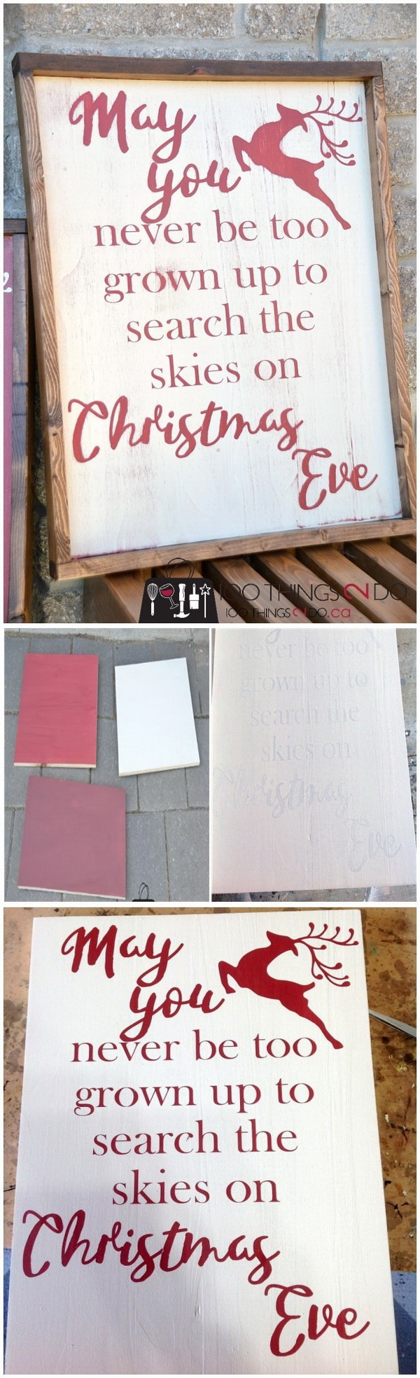 DIY Rustic Christmas Sign.