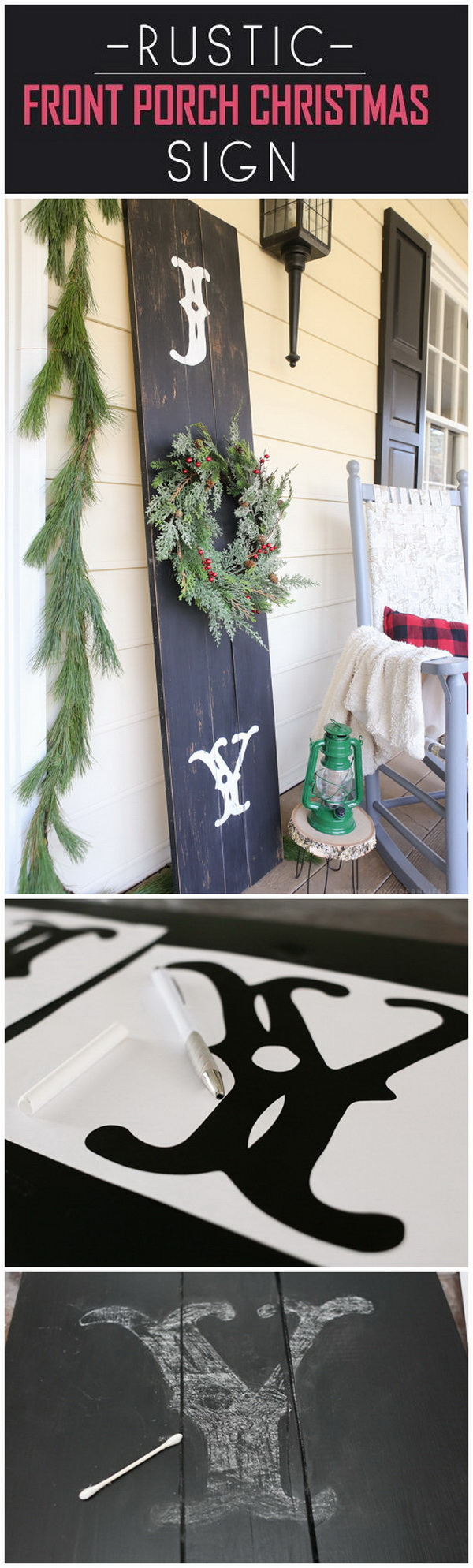 Rustic Front Porch Christmas Sign. This rustic Christmas sign is really an additional holiday decor item to your front porch!