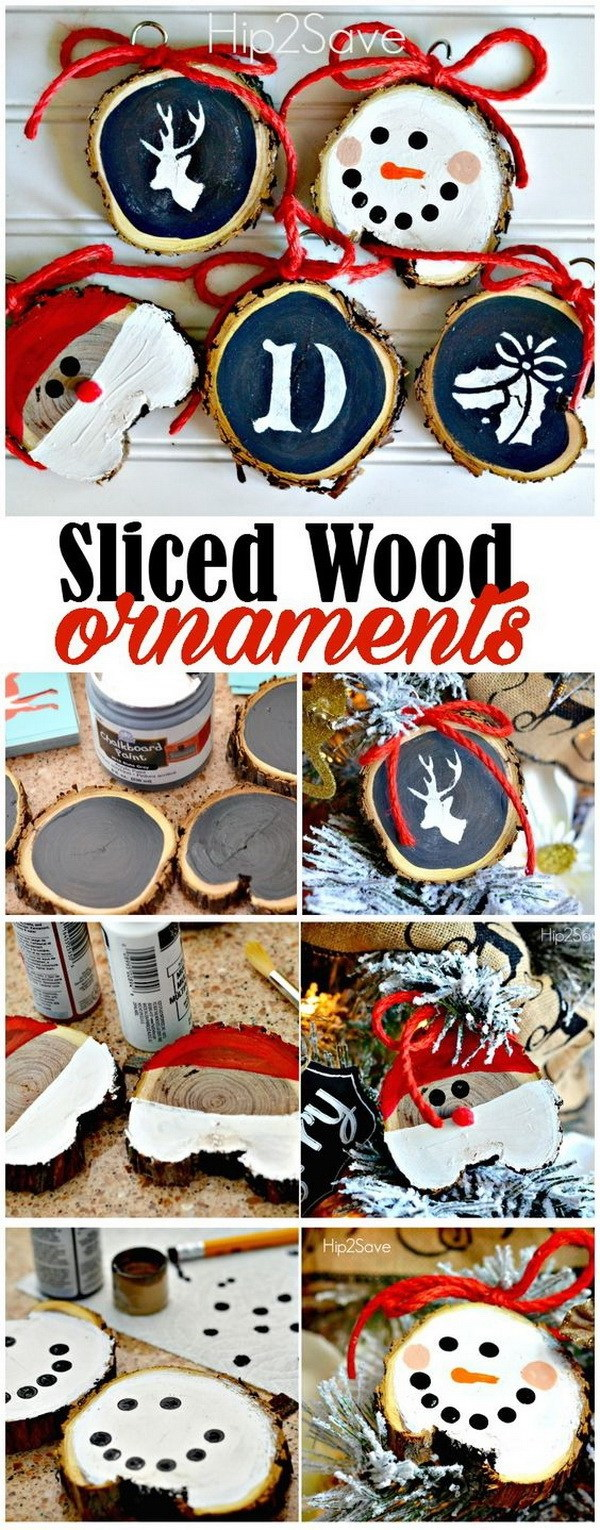 DIY Rustic Sliced Wood Christmas Ornaments. Easy and Fun DIY Christmas crafts for You and Your Kids to Have Fun.