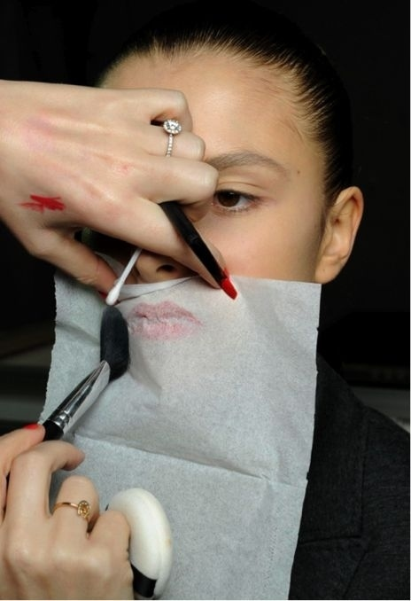 Set Your Lipstick Last Longer with Tissue Paper and Translucent Powder. After you have applied your lipstick, hold a tissue over your lips and lightly dust translucent powder over the tissue. This trick will do magic work to make your lipstick last longer!