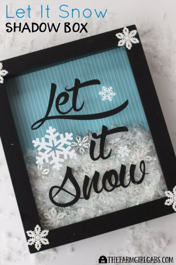 Let It Snow Shadow Box.