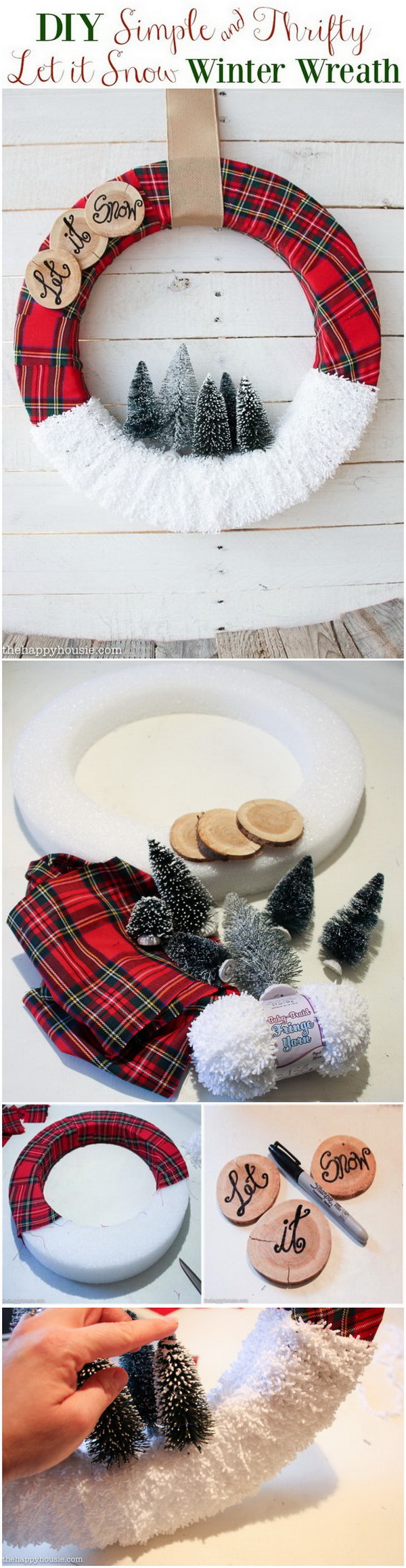 """Let It Snow"" Christmas Wreath."