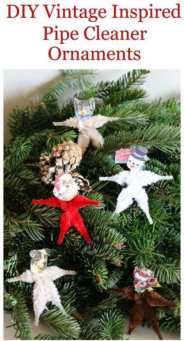 Chenille Pipe Cleaner Christmas Craft. Super fun kids craft for this Christmas season! You can use them to adore your tree or give as gifts!