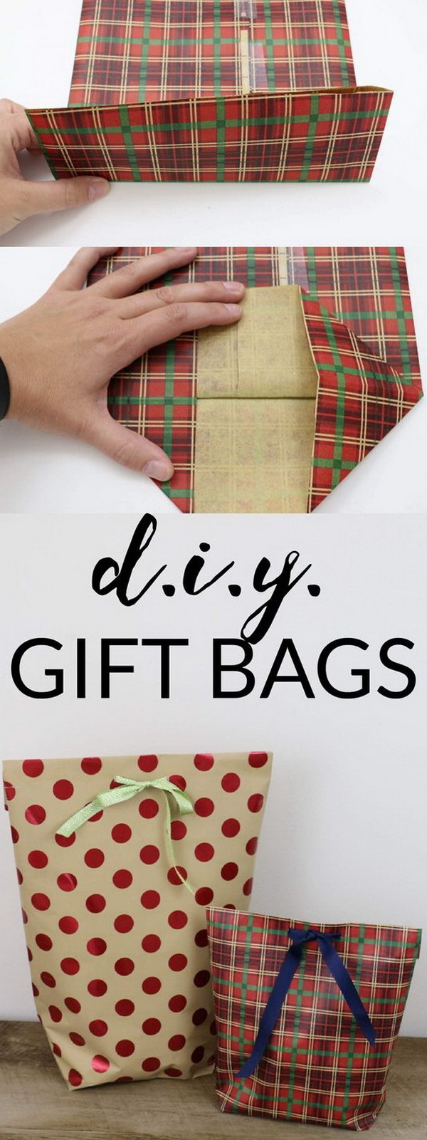 DIY Gift Bags for Christmas.