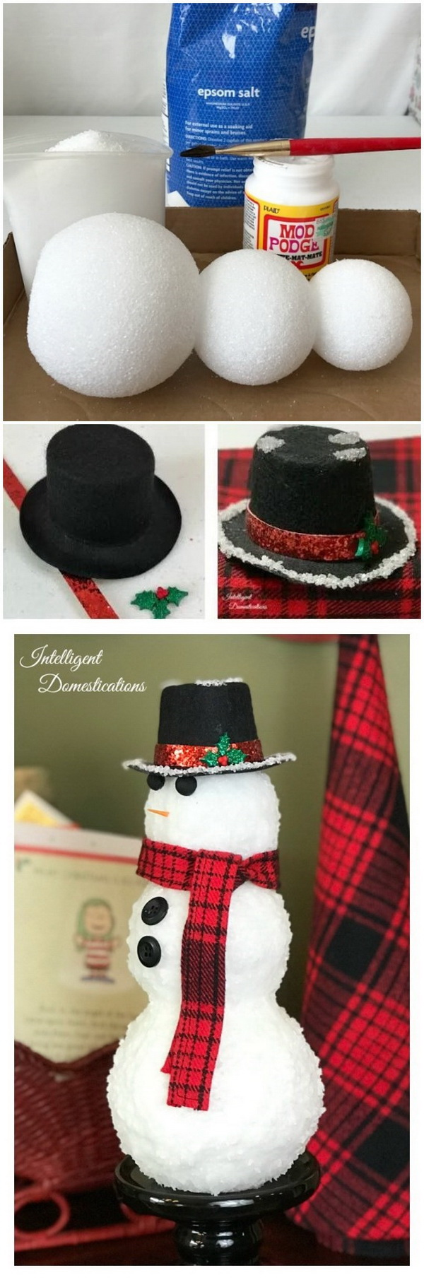 Authentic Looking Snowman.