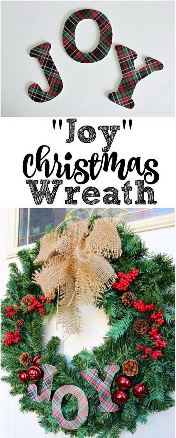 JOY Christmas Wreath.
