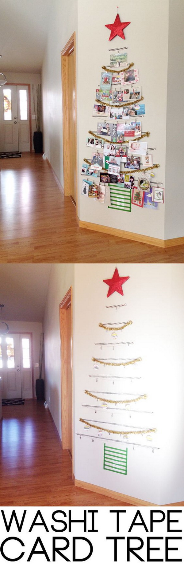DIY Washi Christmas Tree.