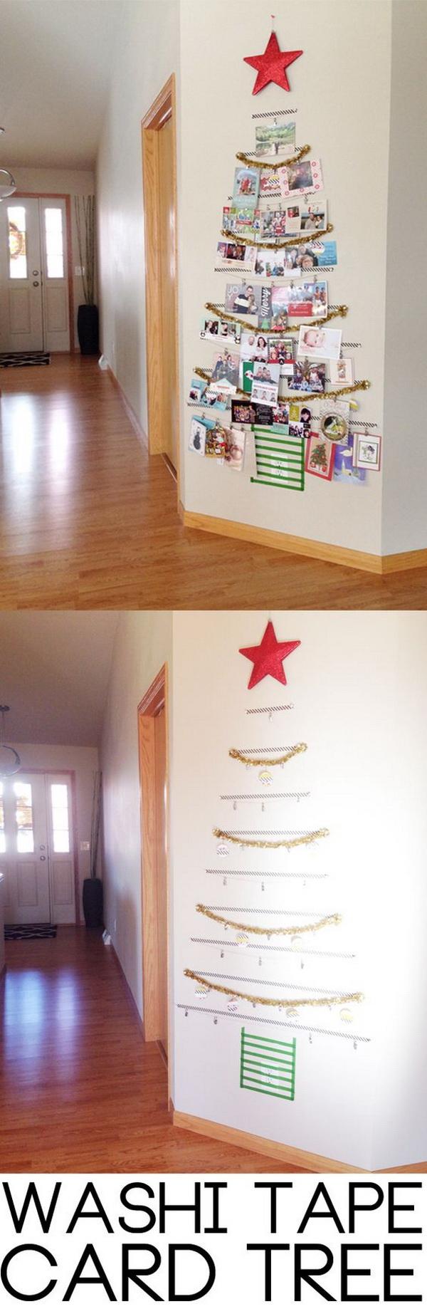 DIY Washi Christmas Tree.