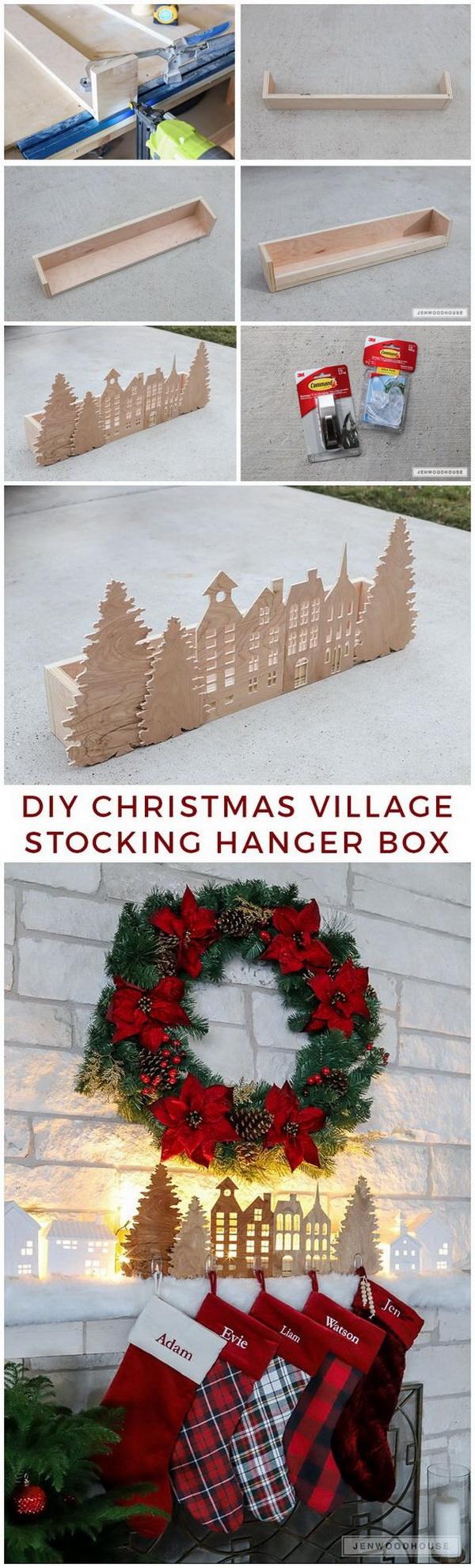 Christmas Village Stocking Hanger Box.