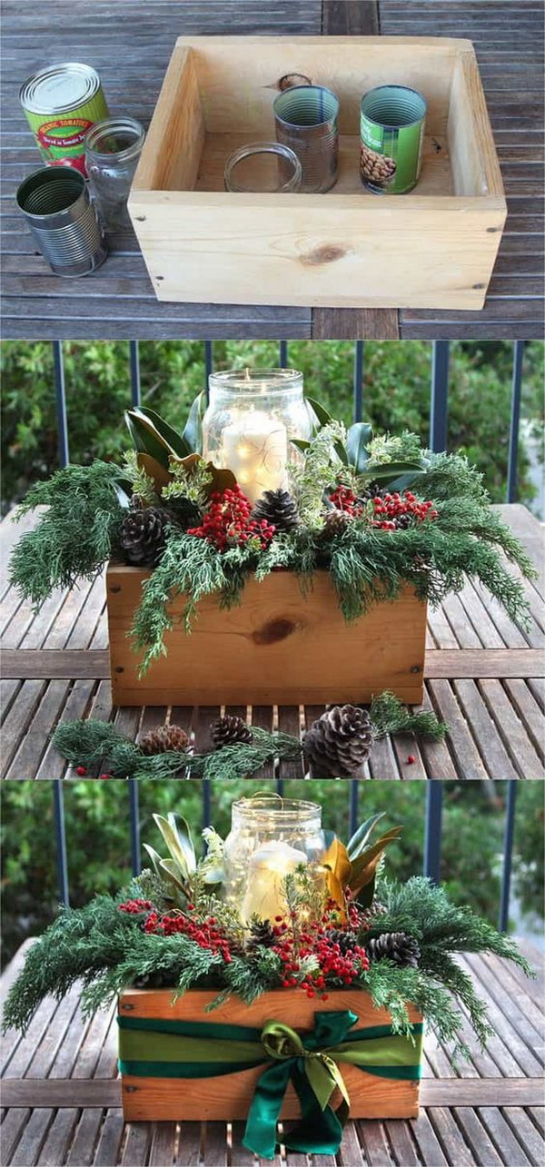 DIY Christmas Table Centerpiece.