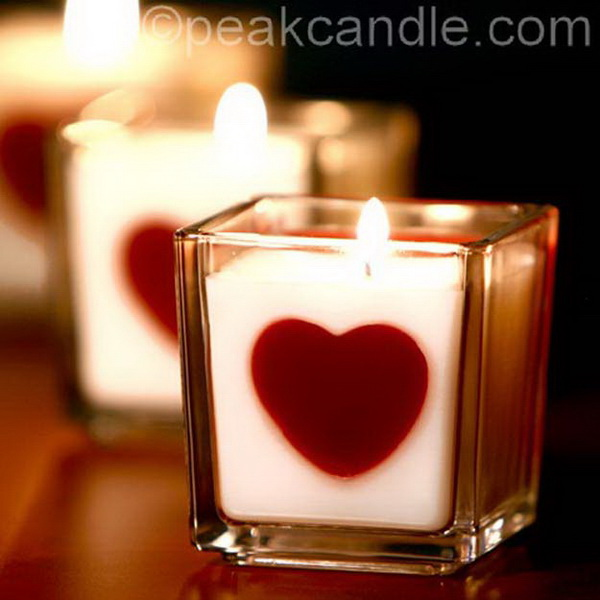 Heart Embed Candles.