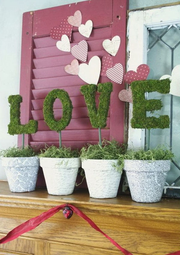 Valentine's Day Mantel - Love Letters.