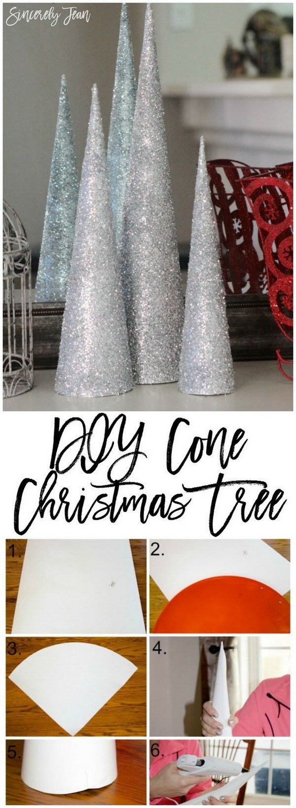 DIY Cone Christmas Tree. A simple and beautiful Christmas craft that is so easy and fun to make, even for kids!