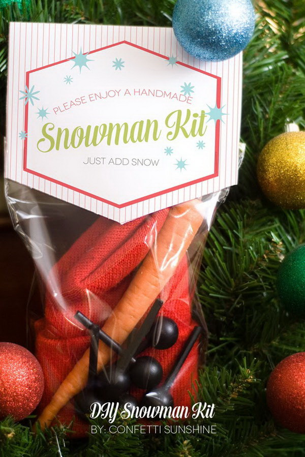 Christmas Neighbor Gift Ideas: DIY Snowman Kit.