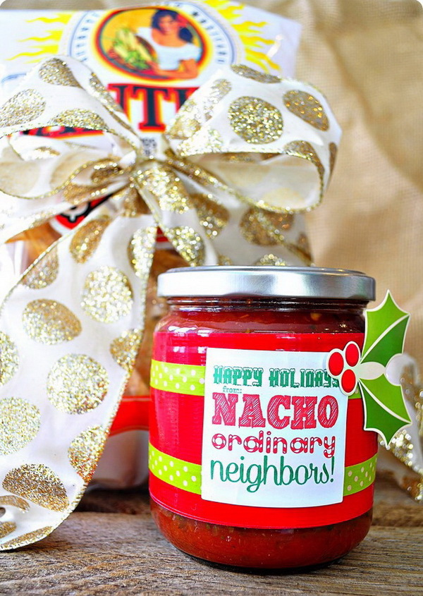 Christmas Neighbor Gift Ideas: Nacho Ordinary Neighbors