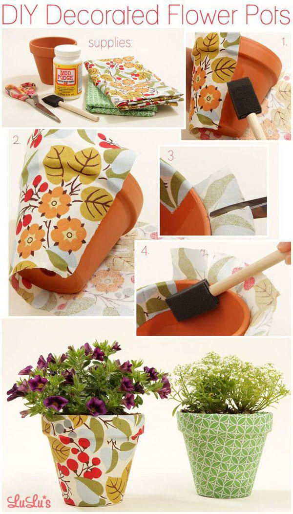 DIY Easter Decoration Ideas: DIY Decorated Flower Pot.