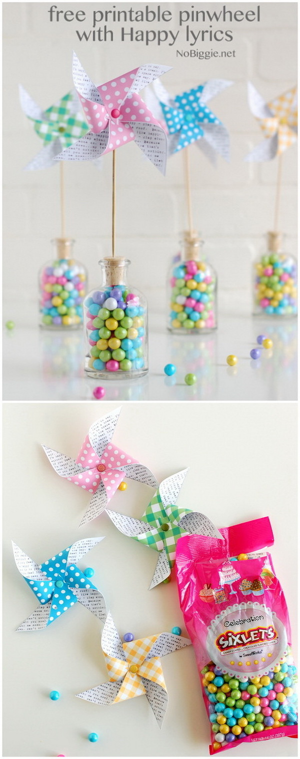 DIY Easter Decoration Ideas: Happy Paper Pinwheels for Spring.